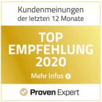 Auszeichnung TOP EMPFEHLUNG 2020